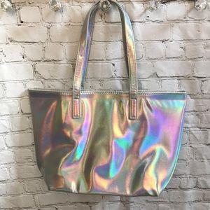 Handbags - Holographic tote bag purse